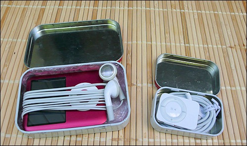 iPod Nano and iRadio in Altoids tins