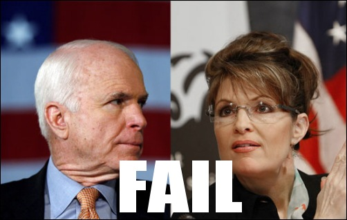 mccain palin fail