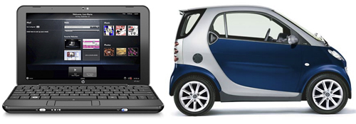 HP mini 1000 - Smart car