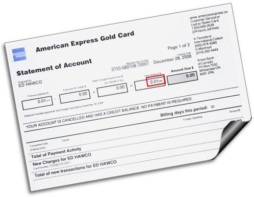 my amex bill